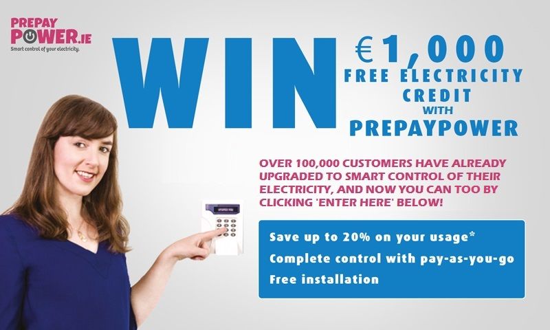 Win €1,000 FREE Electricity Credit
