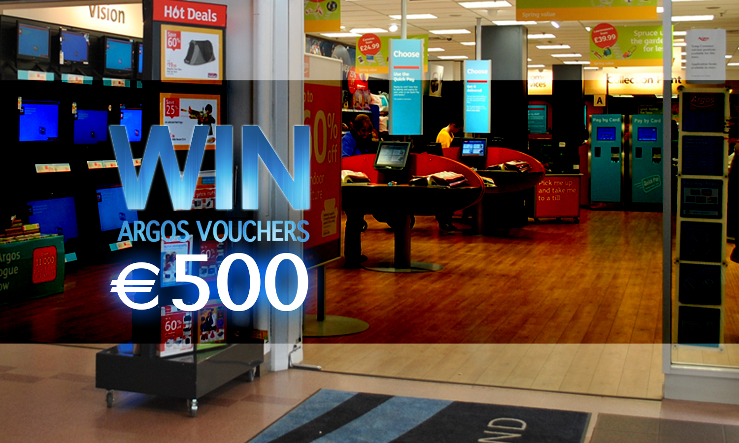 Win €500 Argos Vouchers
